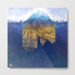 City Under Water - Blue Ocean Theme No. 1 Metal Print