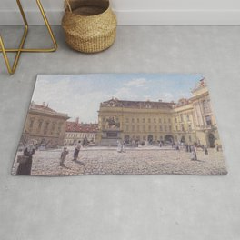 The Josef Square In Vienna 1831 by Rudolf von Alt | Reproduction Rug