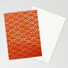 Japanese Wave Pattern  Stationery Cards