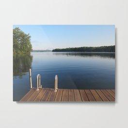 dock on a lake Metal Print