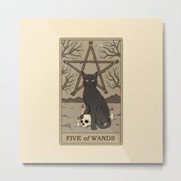 Five of Wands Metal Print