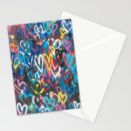 Love Hearts Abstract Graffiti Street Art Stationery Cards