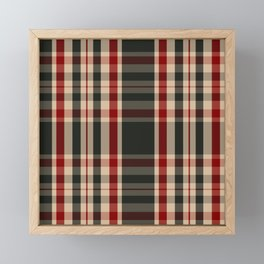 UJ Tartan Plaid Framed Mini Art Print