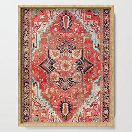 Heriz Azerbaijan Northwest Persian Rug Print Serving Tray
