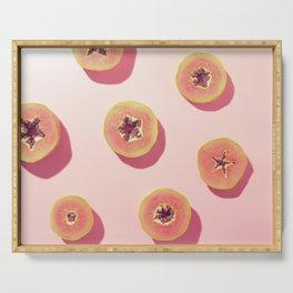 #01_Papaya in pink Serving Tray