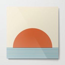 Sunrise / Sunset IV - Orange & Blue Metal Print
