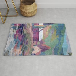 paint by number cottage Rug