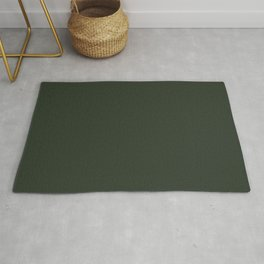 Pray for Snow Forest Green Rug