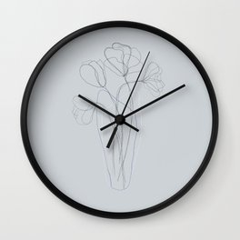 Floral Lines Wall Clock