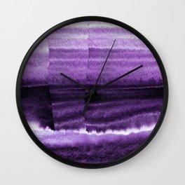 Violet Escape Watercolor Wall Clock