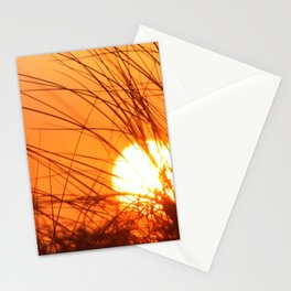 Sunset Through the Grass Stationery Cards