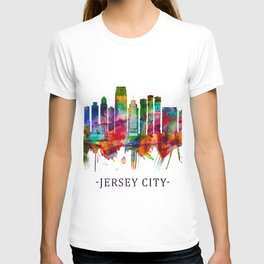 Jersey City New Jersey Skyline T-shirt