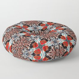 Mosaic In Red and White  Floor Pillow