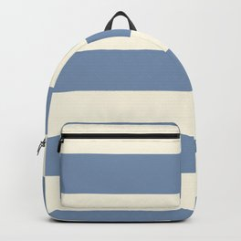 Dusk Sky Blue 27-23 Hand Drawn Fat Horizontal Lines on Dover White 33-6 Backpack
