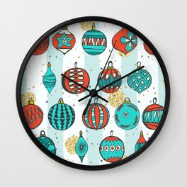 Bright MidCentury Christmas 1.0 Wall Clock