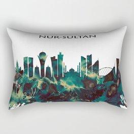 Nur-Sultan Skyline Rectangular Pillow