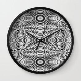 Spider theme B&W Bonitum Ornament #J Wall Clock