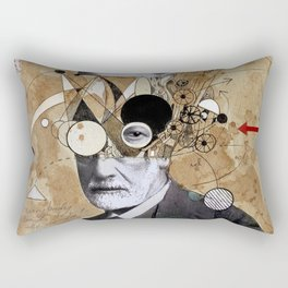 FREUD WITH ABSTRACT CONCEPTS Rectangular Pillow
