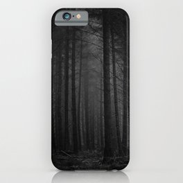 The Dense & Foggy Forest (Black and White) iPhone Case