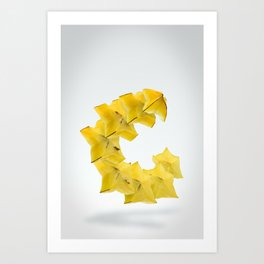 Flying StarFruit Art Print