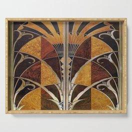 Art nouveau,Original wood work, elevator door, NYC Building Serving Tray