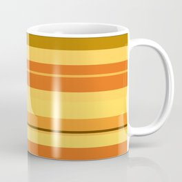 minimalistic horizontal stripes pattern ee Coffee Mug