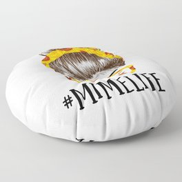 Messy Bun sunflowers Mime Life Mothers Day Funny Grandma Floor Pillow
