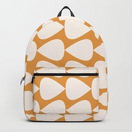 Plectrum Geometric Pattern in Ochre Mustard and Cream Backpack