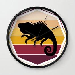 Colorful Iguana Wall Clock