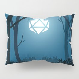Forest Deep Night D20 Dice Full Moon Tabletop RPG Landscapes Pillow Sham