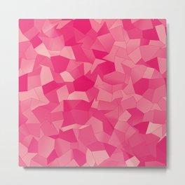 Geometric Shapes Fragments Pattern pp Metal Print