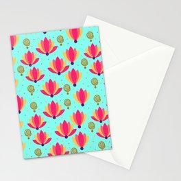 FESTIVE LOTUS - SKY BLUE  Stationery Cards