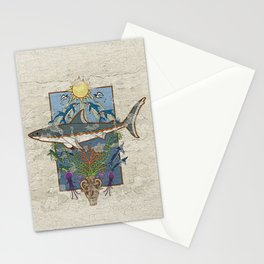 Great White Guardian - Minoan Fresco Stationery Cards