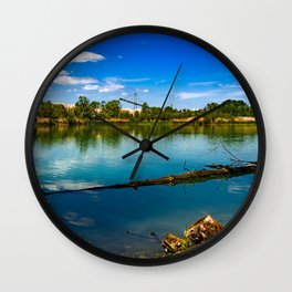 Swabian gravel lake Wall Clock