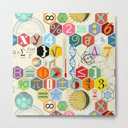 Math in color Metal Print