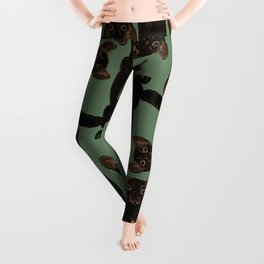 Sable Marten in Green Leggings