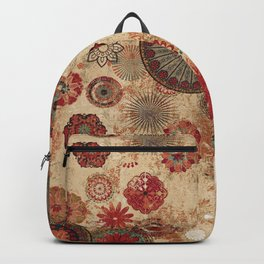 Bohemian Floral Moroccan Style Design Backpack