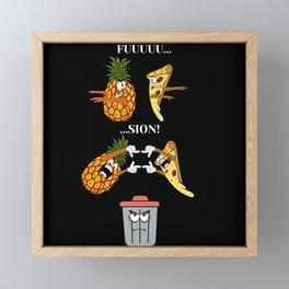 Ananas Pizza, Fusion Transformation Framed Mini Art Print