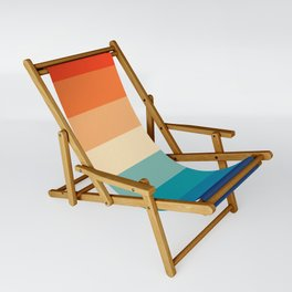 Retro Nostalgia 70s color stripes Sling Chair