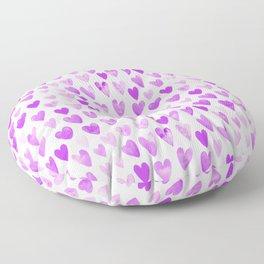 Watercolor Hearts purple pantone love pattern design minimal modern valentines day Floor Pillow