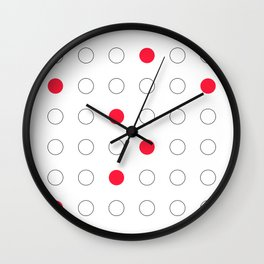 Red dots Wall Clock