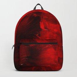 Red Abstract Paint | Corbin Henry Artist Backpack