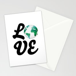 Love With Watercolor Planet - Climate Change Stationery Cards