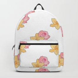 Pink Rose & Day Lily Backpack