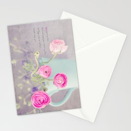 Ranunculus Cup Stationery Cards