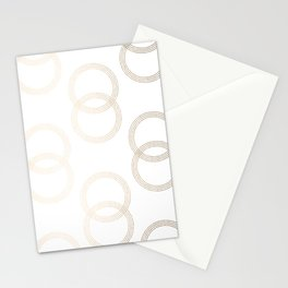 Simply Infinity Link in White Gold Sands on White Stationery Cards