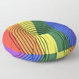 LGBTQ + Rainbow Love is Love Floor Pillow
