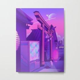 Midnight Matsuri Metal Print