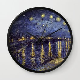 Vincent Van Gogh Starry Night Over The Rhone Wall Clock