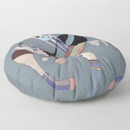 A Floating Figure - Wassily Kandinsky Floor Pillow